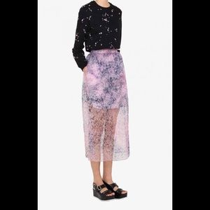 NWT floral Carven tulle skirt; size 38
